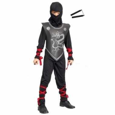 Carnavalskleding ninja carnavalskleding maat m vechtstokken kinderen