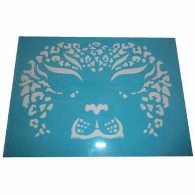 Oog make up sjabloon tijger carnavalskleding den bosch