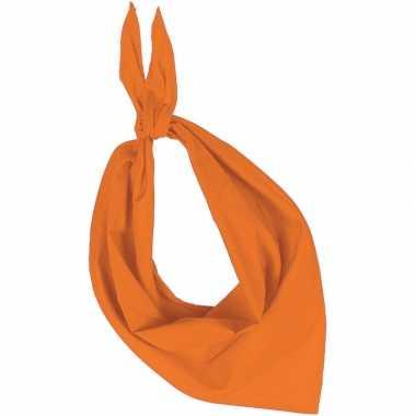 Oranje basic bandana/hals zakdoeken/sjaals/shawls volwassenen carnava