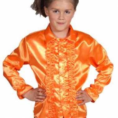 Oranje blouse rouches kids carnavalskleding den bosch