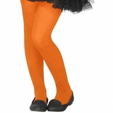 Oranje denier panty kinderen carnavalskleding bosch