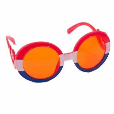 a5cfc91766d9eb Oranje feestbril gekruld montuur carnavalskleding Den Bosch ...