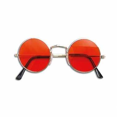 Oranje hippie bril carnavalskleding den bosch