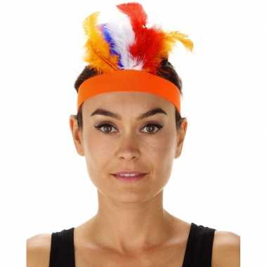 Oranje indianen tooi verkleedaccessoire diadeem dames/volwassenen car