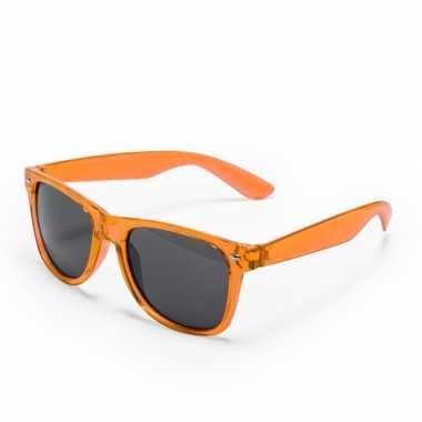 Oranje verkleed zonnebril carnavalskleding den bosch