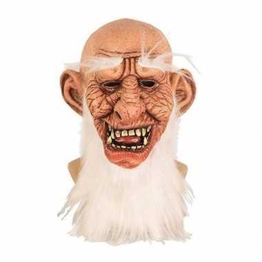 Oude dwerg horror/halloween masker latex carnavalskleding den bosch