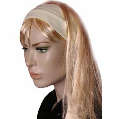 Carnavalskleding pastel gele dames haarband