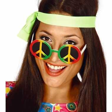 Peace sixties flower power verkleed bril carnavalskleding den bosch