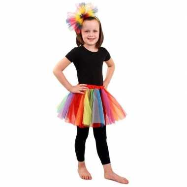 Petticoat regenboog meisjes carnavalskleding den bosch