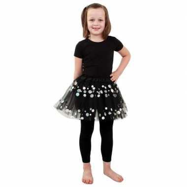 Petticoat zwart stippen meisjes carnavalskleding den bosch
