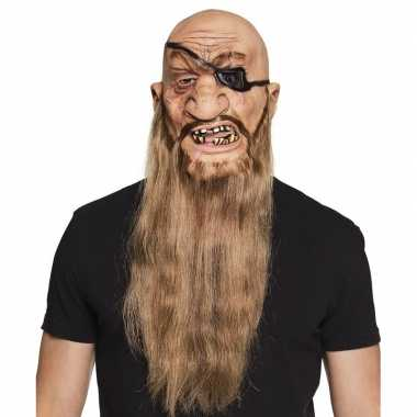 Piraat horror/halloween masker latex carnavalskleding den bosch
