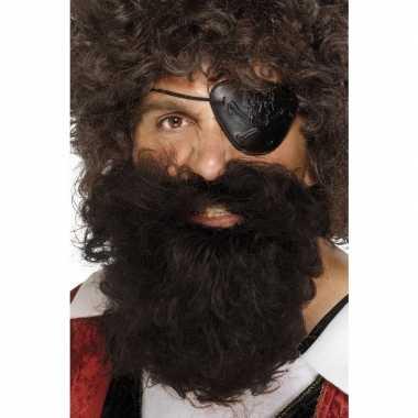 Piraten baard bruin heren carnavalskleding den bosch
