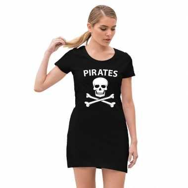 Piraten carnavalsjurkje / jurk zwart dames carnavalskleding den bosch