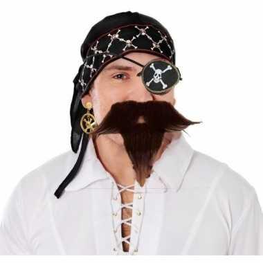 Piraten hoofd accessoires heren carnavalskleding den bosch
