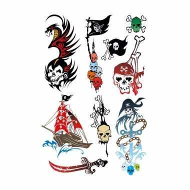 Piraten tattoeages stuks carnavalskleding den bosch