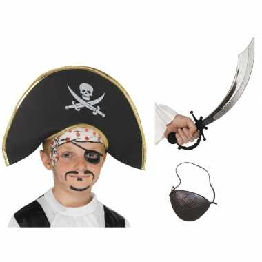 Piraten verkleed accessoires jongens meisjes carnavalskleding den bos