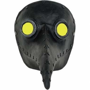 Plaagdokter/plaagmeester zwart snavel masker volwassenen carnavalskle