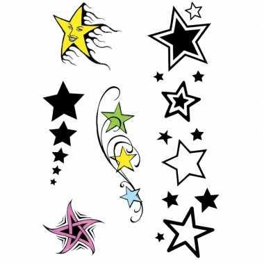 Plak sterren tattoo sets stuks carnavalskleding den bosch