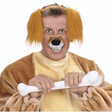 Carnavalskleding plastic neus een hond