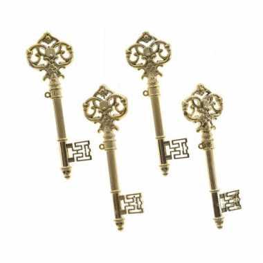 Plastic sleutels goud stuks carnavalskleding den bosch