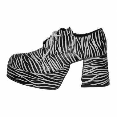 Carnavalskleding plateau zolen zebra print