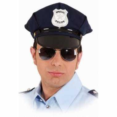 Politiepet blauw volwassenen carnavalskleding den bosch
