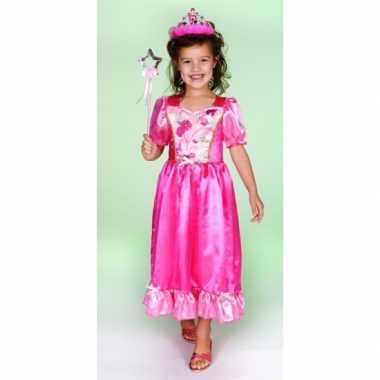 Prinsessen jurkje cyrina roze carnavalskleding den bosch