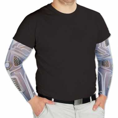 Robot verkleed/feest tattoosleeves volwassenen carnavalskleding den b