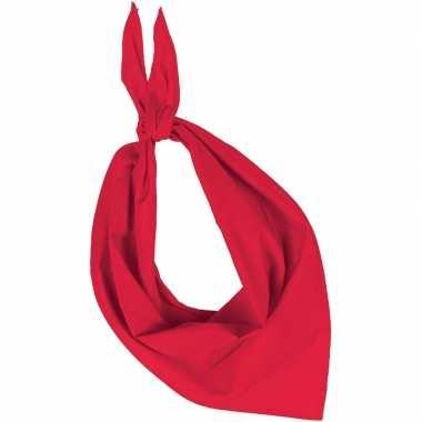 Rode basic bandana/hals zakdoeken/sjaals/shawls volwassenen carnavals