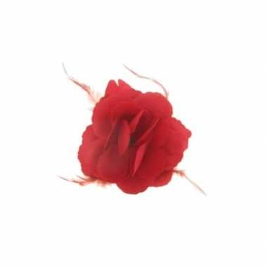Rode bloem speld xcm carnavalskleding den bosch