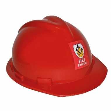 Rode brandweerhelm verstelbaar verkleed accessoire volwassenen carnav