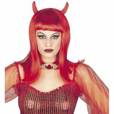 Carnavalskleding rode duivelspruik dames