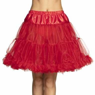 Rode lange petticoat dames carnavalskleding den bosch