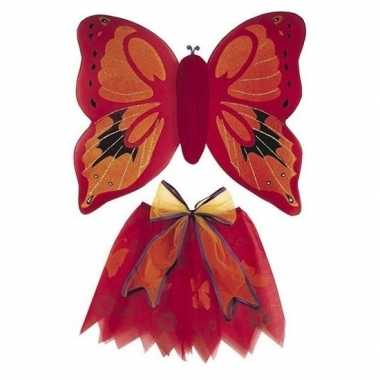 Carnavalskleding rode vlinder vleugels meisjes den bosch
