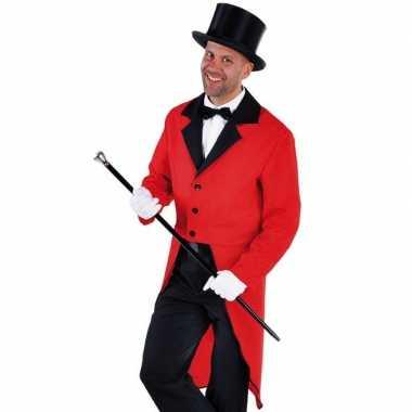 Rood circus directeur jasje inclusief hoed maat l carnavalskleding de