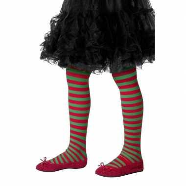 Rood groen kinder panty one size carnavalskleding den bosch