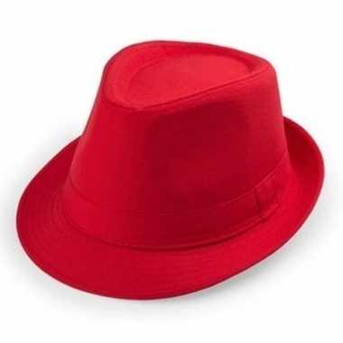 Rood hoedje trilby model volwassenen carnavalskleding den bosch
