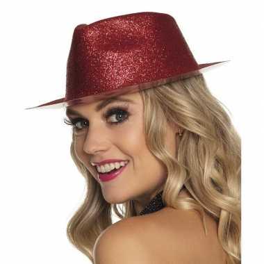 Rood timberlake hoedje glitters dames carnavalskleding den bosch