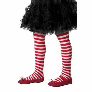 Rood witte kinder panty one size carnavalskleding den bosch