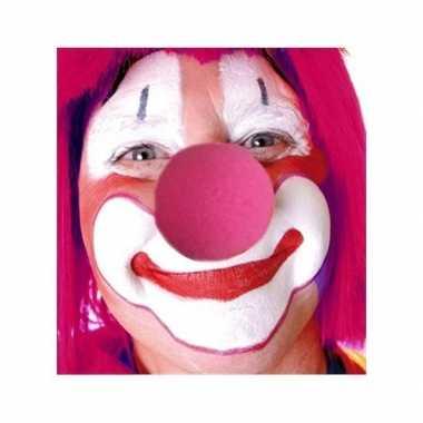 Roze clownsneus carnavalskleding den bosch
