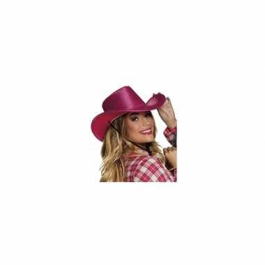 Roze cowboyhoed pailletten carnavalskleding den bosch