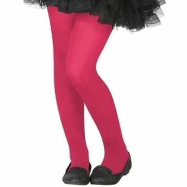 Roze denier verkleed panty kinderen carnavalskleding bosch