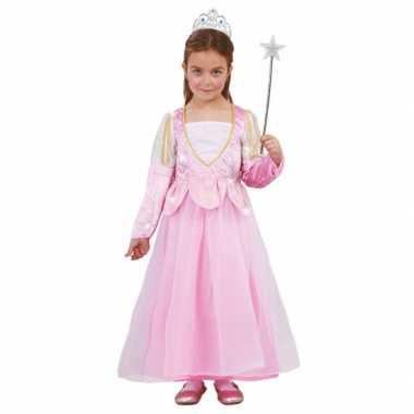 Roze glitter prinsessenjurkje meisjes carnavalskleding den bosch