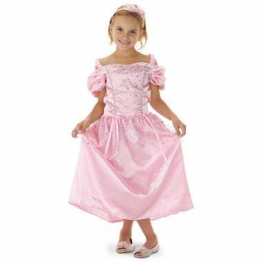 Roze lange prinsessen jurk meisjes carnavalskleding den bosch