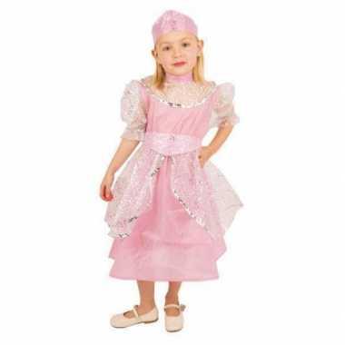 Roze prinsessenjurk meisjes carnavalskleding Den Bosch
