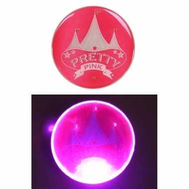 Roze toppers button licht pretty pink carnavalskleding den bosch