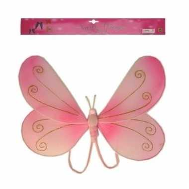 Roze verkleed vleugels vlinder kids carnavalskleding den bosch