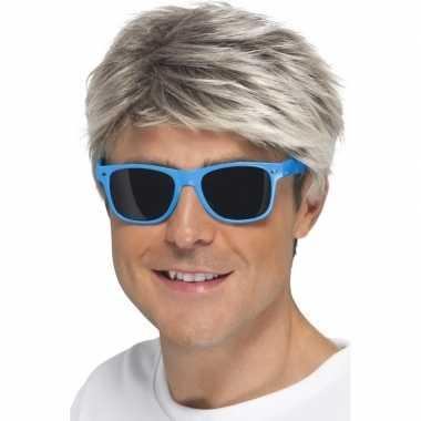 S feest zonnebril neon blauw carnavalskleding den bosch