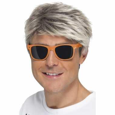 S feest zonnebril neon oranje carnavalskleding den bosch