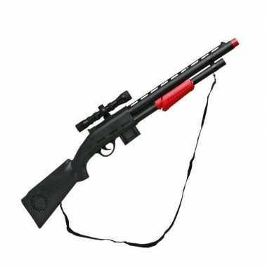 Speelgoed geweer soldaten /politie carnavalskleding den bosch